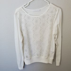 Anne fontaine white light sweater